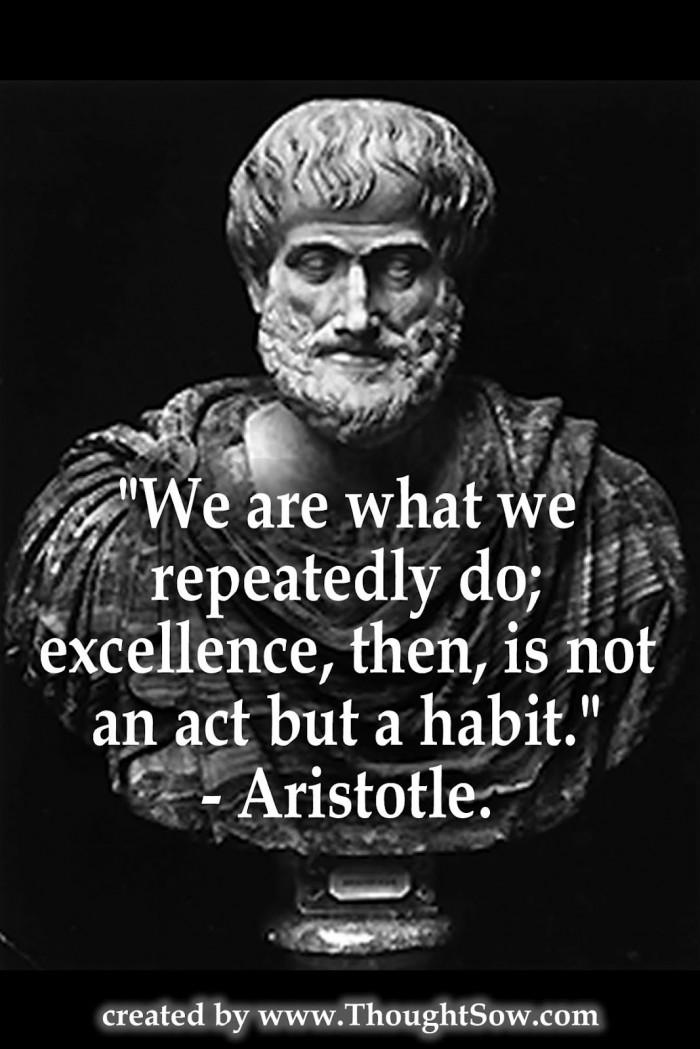 a research on aristotles excellence in leadership Excellence is an art won by training and habituation we do not act rightly because we have virtue or excellence, but we rather have those because we have acted rightly we are what we repeatedly do.