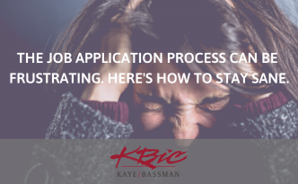 Job Application Process: Stay Sane | KBIC Healthcare Finance Recruiting